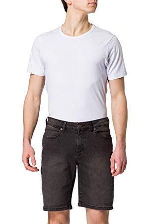 Urban classics Herenshort relaxed fit jeansshorts, korte broek voor mannen, normale snit, in 2 kleuren, maten 28-44