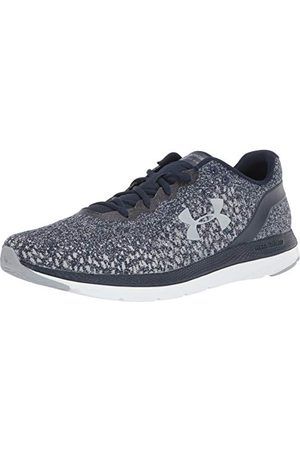 Under Armour Men's Charged Impulse Knit Running Shoe, Academy White Mod Gray 400, 8 UK