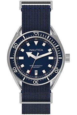 Nautica NAPPRF001 herenhorloge, analoog, kwarts, met nylon armband