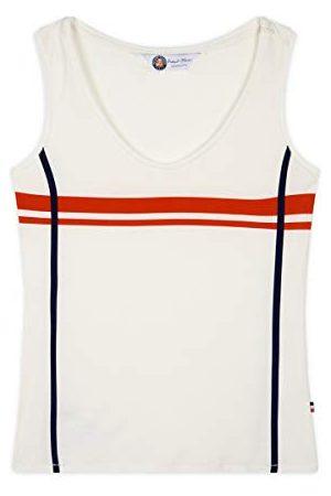 ROLAND GARROS Nina, gestreept, dames, kleur ecru, minimalistische strepen, kleding voor sport, maat XL-RTSW0120-ECR-XL, XL