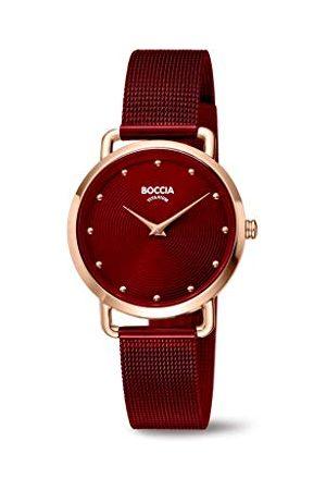 Boccia Dames analoog kwarts horloge met roestvrij stalen armband 404TT3314-08