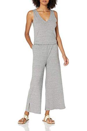 Daily Ritual Pima Katoen en Modal Interlock Mouwloos Jumpsuit Overhemd, Heather Grey Spacedye, US XXL (EU 3XL-4XL)