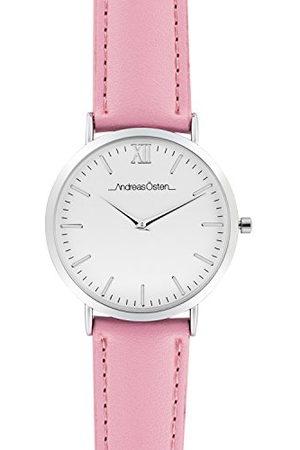 Andreas Osten Unisex Adult Analoog Quartz Horloge met Lederen Band AO-158