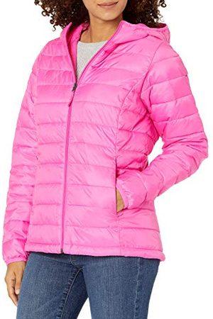 Amazon Lichtgewicht Waterbestendig Packable Hooded Puffer Jacket Geïsoleerd, Neon , S