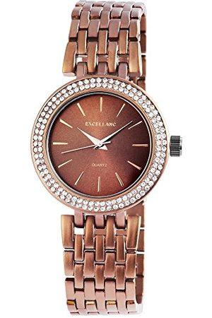 Excellanc Dames analoog kwarts horloge met verschillende materialen armband 152857000020