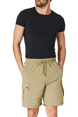 Urban classics Herenshorts, nylon cargoshorts, korte broek voor mannen met opgestikte zakken in 2 kleuren, maten S - 5XL