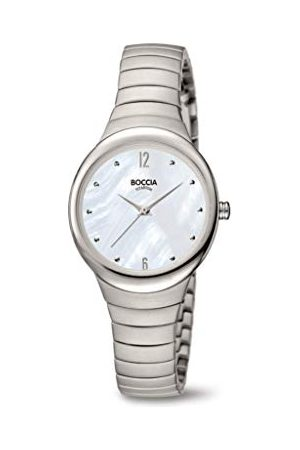 Boccia Dames analoog kwarts horloge met titanium armband 3307-01