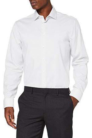 Seidensticker Zakelijk overhemd voor heren, strijkvrij, getailleerd overhemd met lange mouwen, Kent kraag, 100% katoen