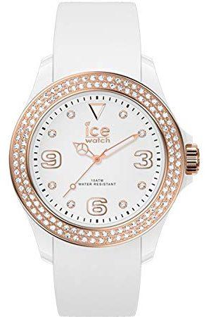 Ice-Watch ICE star White rose-gold - dameshorloge met siliconen armband - 017233 (Maat M)