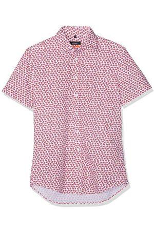 Seidensticker Heren slim korte mouwen met button-down kraag zachte bloemenprint business hemd
