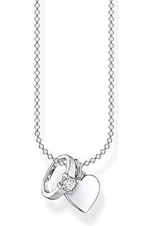 Thomas Sabo Dameshalsketting ring met hart 925 sterling , lengte 38-45 cm