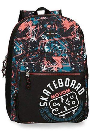 MOVOM Underground schoolrugzak, Azul Y Amarillo (rood) - 35923B1
