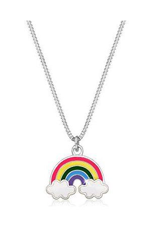 Elli Halsketting Kinder Regenbogen Wolke Emaille Happy 925 Silber