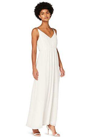 TRUTH & FABLE Amazon-merk - Maxi Chiffon Boho jurk voor dames, (ivoor), 20, etiket: 3XL