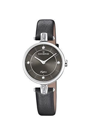 Candino Womens Analoog Klassiek Quartz Horloge met Lederen Band C4658/4