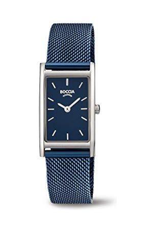 Boccia Womens analoge quartz horloge met roestvrij stalen band 3304-01