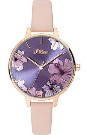 s.Oliver Dames Analoog Kwarts Horloge met Lederen Armband SO-3778-LQ