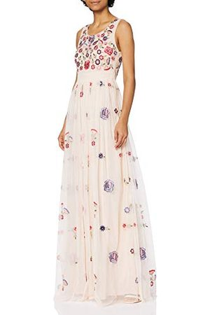 Frock and Frill Dames verfraaid Maxi Cocktail mouwloze jurk