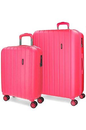 MOVOM Movon Wood koffer, Uitbreidbare set met 2 koffers, fuchsia - 5318968