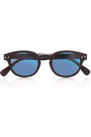 Foreyever Unisex kinderen Enjoy zonnebril, (Nero/Blu Specchiate), 41
