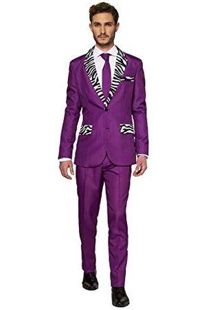 Suitmeister – Pimp – Halloween Pakken Voor Heren Met Verschillende Printen En Kleuren – Pak Met Jasje, Broek En Stropdas – 2XL