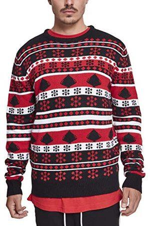 Urban classics Heren pullover Snowflake Christmas Tree Ugly Sweater, kerstsweatshirt voor mannen in Noorse look in 3 kleurvarianten, maten S - 5XL