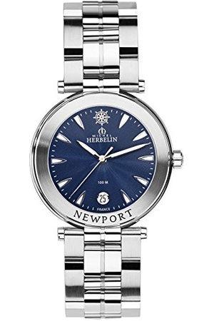 Michel Herbelin Unisex volwassen analoog horloge met roestvrij stalen armband 12285/B35