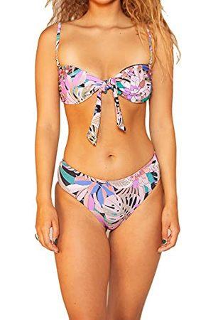 Hurley W Palm Paradise geknoopte bandeau bikini top voor dames