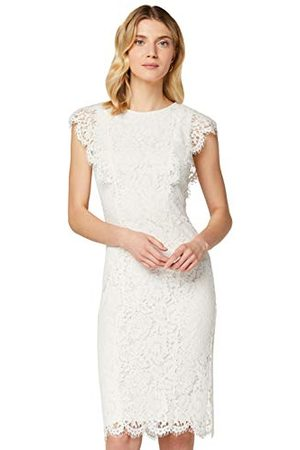 TRUTH & FABLE Vrouwen Midi Lace Bodycon jurk, (Ivoor),8