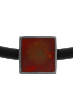 InCollections Bead voor dames, 925/000 sterling zilver met barnsteen op rubberen band 3,0/42 cm K230200095580