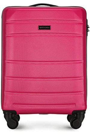 Wittchen Stevige kleine koffer van handbagage trolley reiskoffer ABS harde 4-wielig combinatieslot Rood