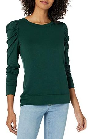 Daily Ritual Amazon Brand - Dagelijks Ritueel Vrouwen Supersoft Terry Plissé-Sleeve Sweatshirt,Mos ,3XL-4XL