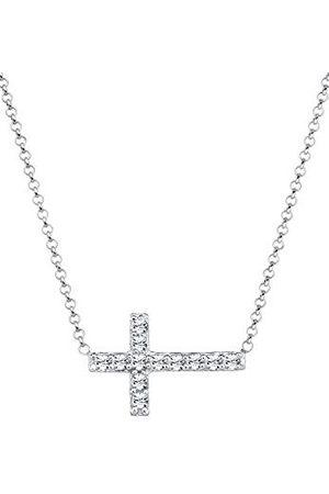 Elli Halsketting Dames Kruis Hanger Elegant met Kristallen in 925 Sterling Zilver