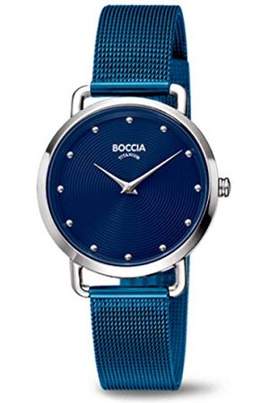 Boccia Dames analoog kwarts horloge met roestvrij stalen armband 404TT3314-07