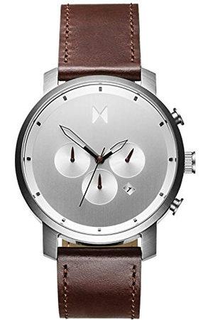 MVMT Heren chronograaf kwarts horloge met lederen armband D-MC01-SBRL