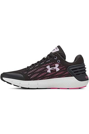 Under Armour Girls' Grade School Charged Rogue Running Shoes, Grey (Jet Gray/Jet Gray/Purple Ace (100) 100), 3 (35.5 EU)