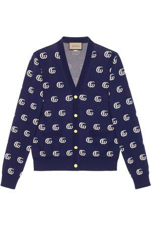 Gucci GG knit cotton jacquard cardigan
