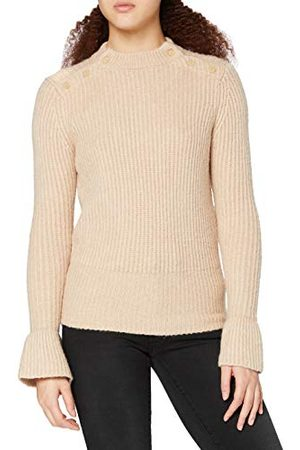 Scotch&Soda Dames Cosy Knit with tonal Press Buttons at Shoulders Pullover