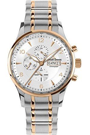 Jacques Lemans Mannen analoog kwarts horloge met roestvrij staal gecoate armband 1-1844L
