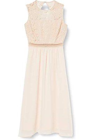 TRUTH & FABLE Amazon Brand - WAARHEID & FABEL Maxi Chiffon jurk voor dames,Gebroken (amandel),6