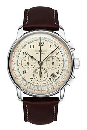 Zeppelin Unisex chronograaf kwarts horloge met lederen armband 7624-5