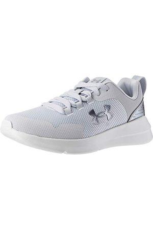 Under Armour Women's Essential Road Running Shoe, Halo Gray/White/Iridescent (104), 5 UK