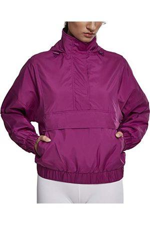 Urban classics Dames windbreaker lichte overtrekjas dames panel pull-over jas