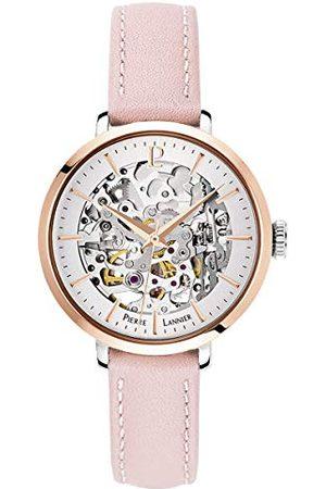 Pierre Lannier Womens analoog automatisch horloge met lederen band 312B625