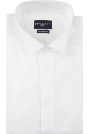 Cavallaro Napoli Heren Overhemd - Bianco Ceremonial Overhemd