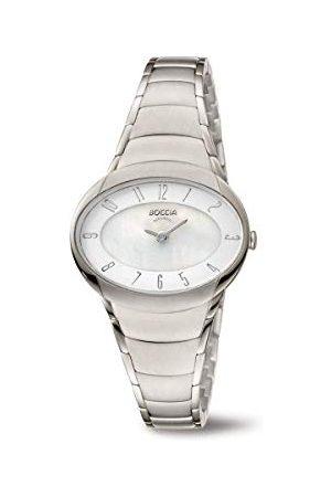 Boccia Analoog kwarts horloge met titanium armband 3255-03