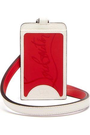Christian Louboutin Miloucah Logo-plaque Leather Cardholder - Mens - Red White