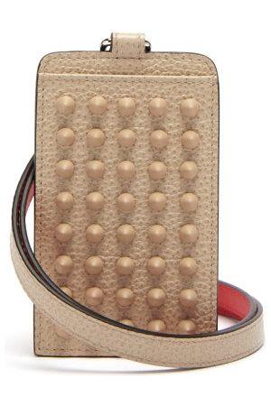 Christian Louboutin Miloucah Spike-embellished Leather Cardholder - Mens