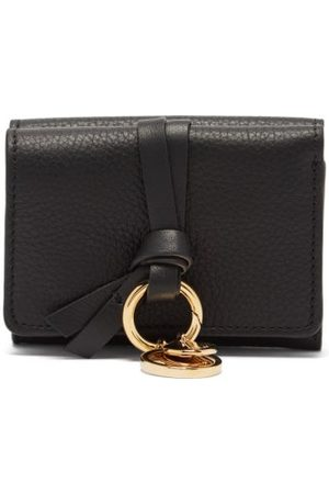 Chloé Alphabet Grained-leather Wallet - Womens - Black