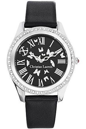 Christian Lacroix Dames analoog quartz horloge met lederen band CLWE31